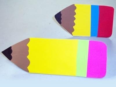 Cómo hacer una tarjeta para su maestra en forma de lapiz