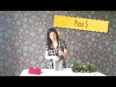 Hazlo tu misma - Topiario de rosas para centro de mesa