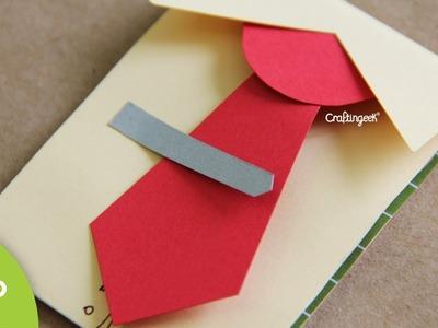 Mini tarjeta Día del Padre - detalle. regalo