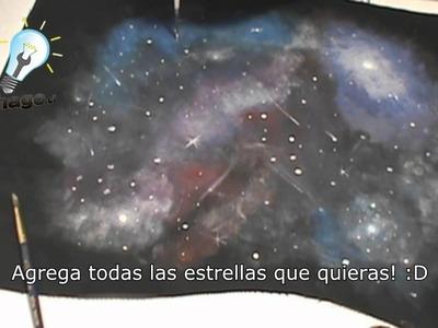 Cómo hacer estampado de galaxia + bolso con cierre
