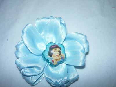 Como hacer flores en cinta para decorar moños o lazos No.058 Manualidadeslahormig