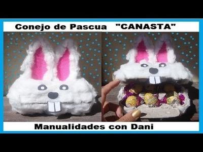 Como hacer un conejo de pascua CANASTA