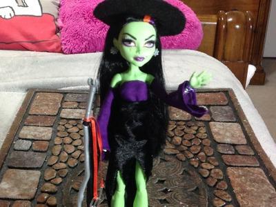Como hacer un disfraz de bruja para tus muñecas.