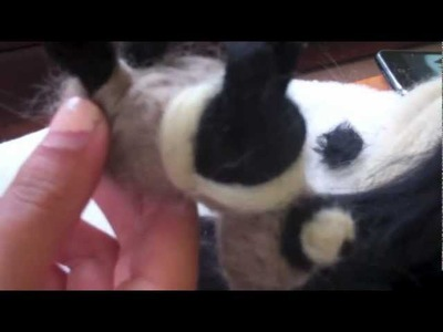 Como hacer un mapache de fieltro