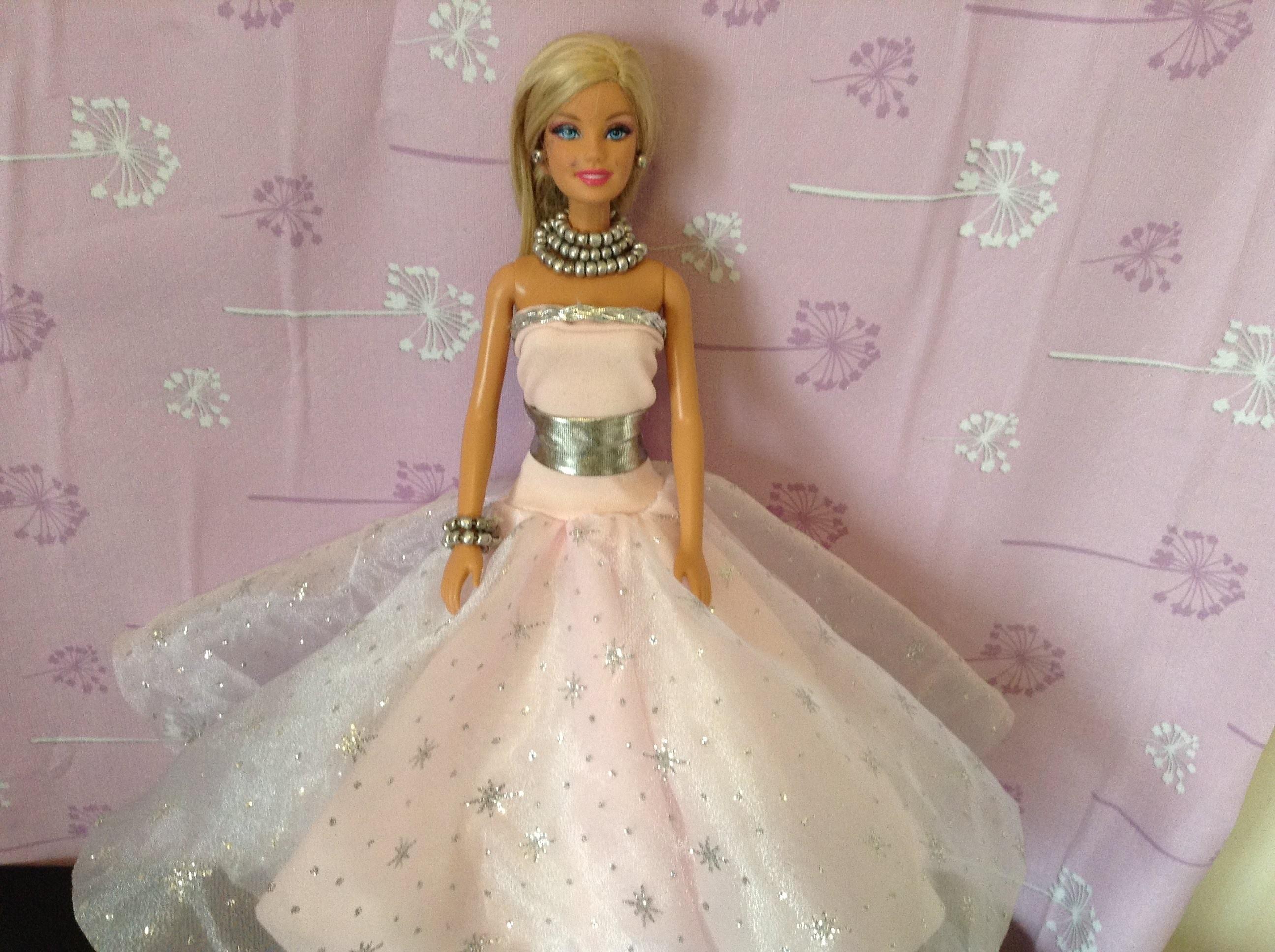 COMO HACER VESTIDO DE PRINCESA PARA barbie, monster high