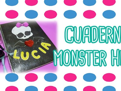 DIY agenda, cuaderno o carpeta Monster High super facil