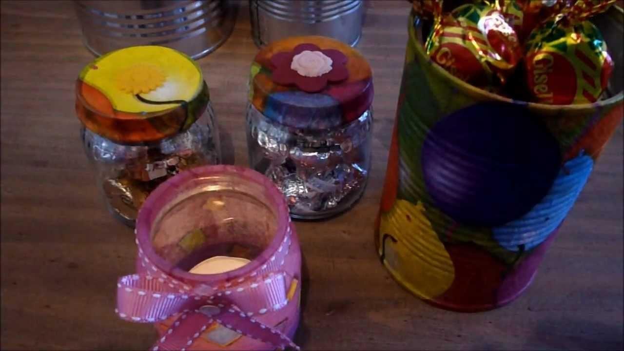 Manualidades con latas y frascos de vidrio :)