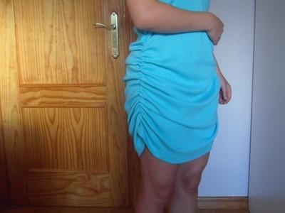 Modificar un vestido con un hilo elástico