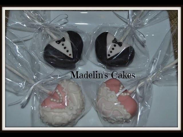 Paletas De Pastel para* BODA NOVIO Y NOVIA HERMOSAS* Cake Pops - Madelin's Cakes