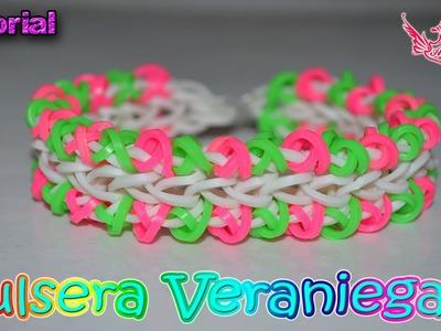 ♥ Tutorial: Pulsera Veraniega (sin telar) ♥