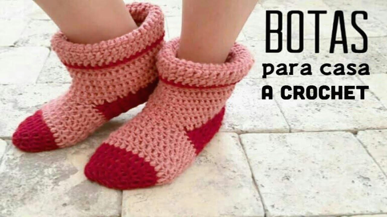 Botas para Casa a Crochet - PASO A PASO