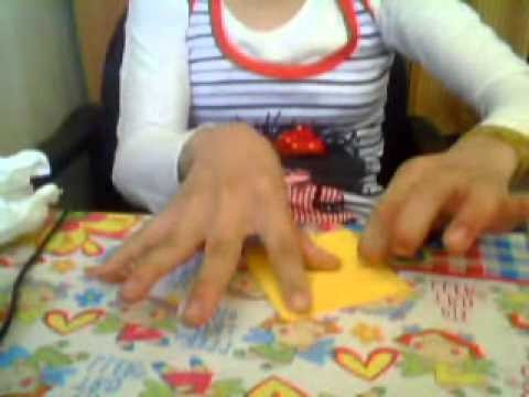 ¡como hacer una flor inflada de origami !
