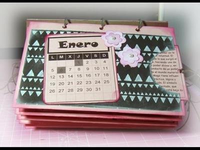 Calendario personalizado scrapbook