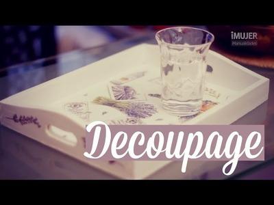 Cómo hacer decoupage en madera | decoración del hogar | iMujer Hogar