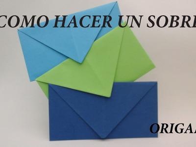Como hacer  SOBRES para cartas sin pegamento (origami)
