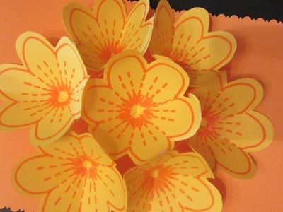 Cómo hacer una tarjeta bouquet de flores.