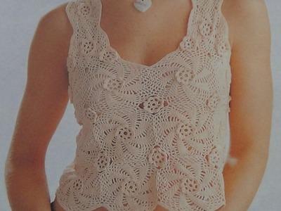 Como Tejer blusa con flores a crochet