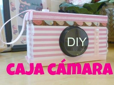 DIY caja en forma de camara-scrapbooking gift box