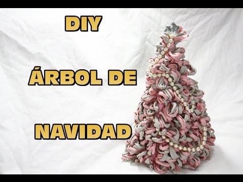 DIY HACER ARBOL DE NAVIDAD PARA DECORAR DE TRAPILLO, DIY CHRISTMAS TREE DECORATING