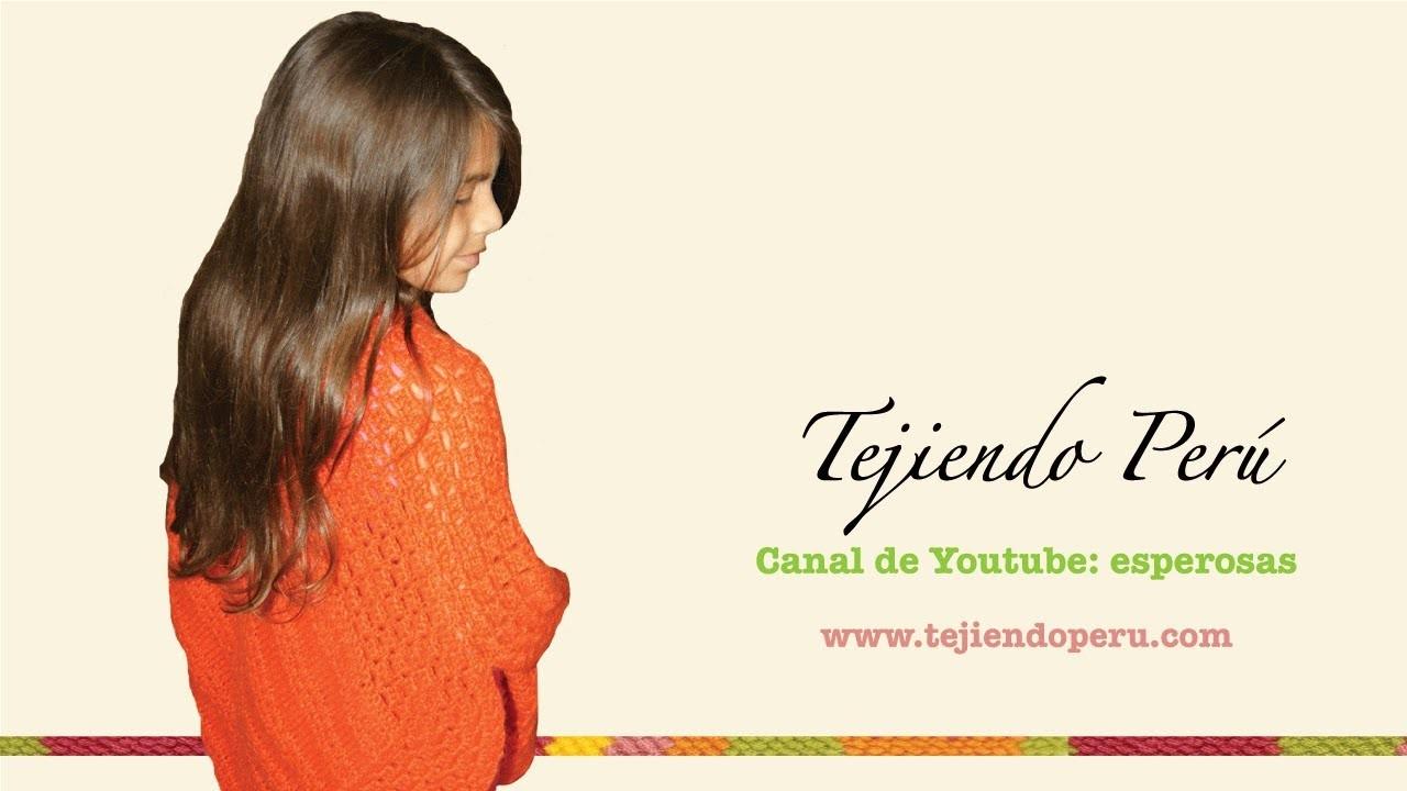 Dos agujas y crochet: poncho tejido de dos cuadrados (Parte 2)