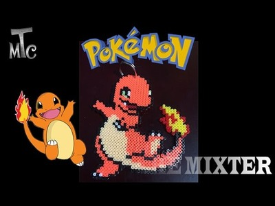 Hacer Charmander De Hama Beads | Como Hacer Llavero De Charmander (Pokemon) | The Mixter Games