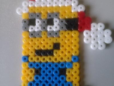 Minion Papa Noel de Hama Beads