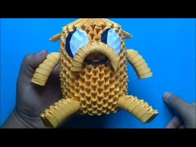 Origami 3D Jake (Hora de aventura)