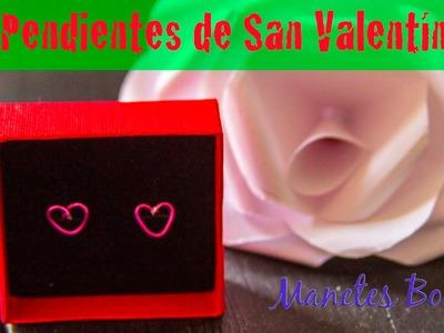 Pendientes de San Valentín en forma de corazón |Tutorial DIY