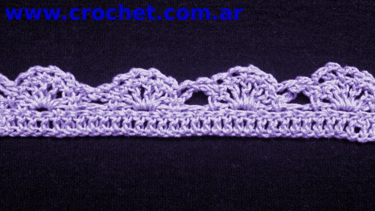 Puntilla N 37 En Tejido Crochet Tutorial Paso A Paso