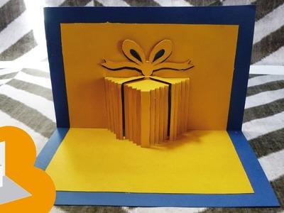 Tarjeta pop up caja de regalo Cumpleaños