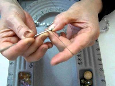 Tutorial 3 tejido a crochet con hilo de plata, cobre y de color.MOV