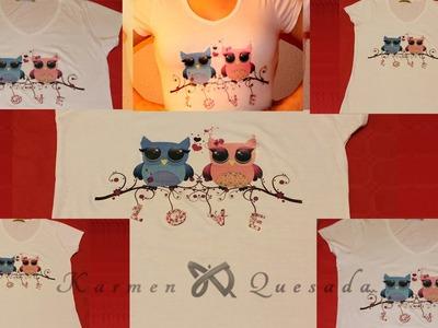 Tutorial: Estampar un diseño en una camiseta, con papel transfer. DIY