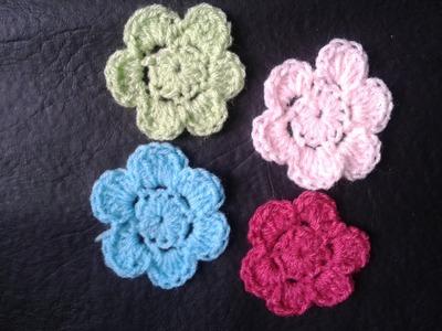 Como hacer flores a crochet Muy faciles!! Tejemos?!