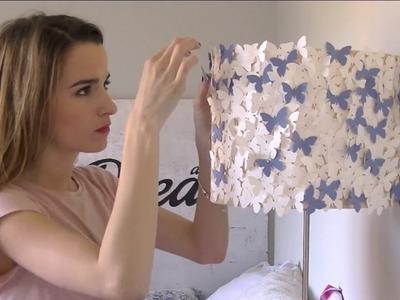 DIY: Decora tu habitación con una lámpara de mariposas