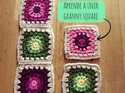 Cómo unir granny square - How to join granny square