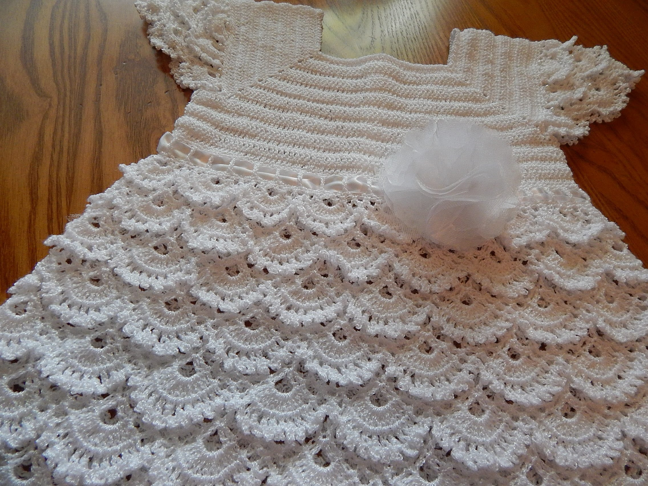Vestido Blanco Crochet parte 2 de 3