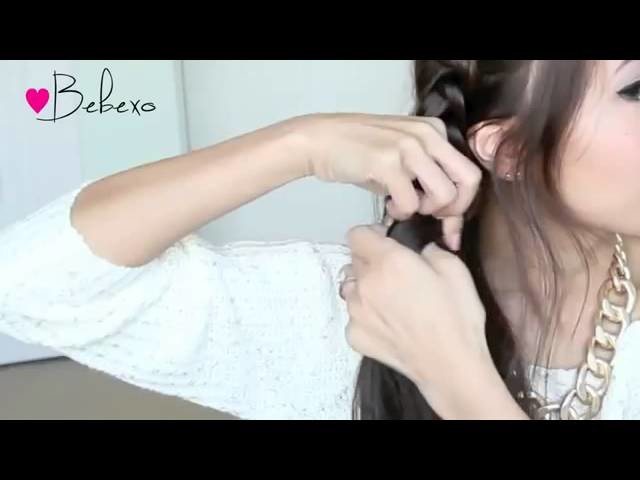 2014 Hair Tutorial Crochet Stitch Ponytail Hairstyle for Medium Long Hair Tutorial