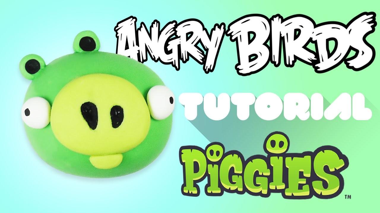 Angry Bird Pig Polymer Clay Tutorial   Cerdo de Angry Bird Porcelana Fría. Plastilina