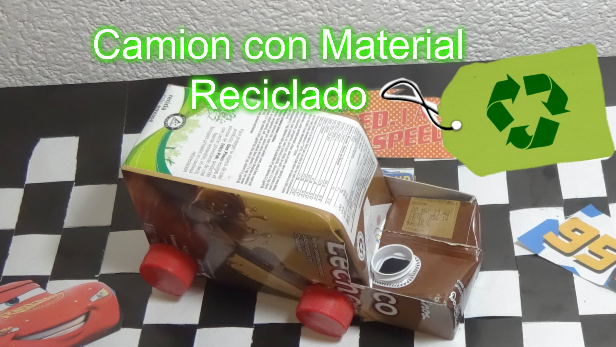 Camión, Carro o coche con Material Reciclado. DIY Tutorial Car made from recycled material