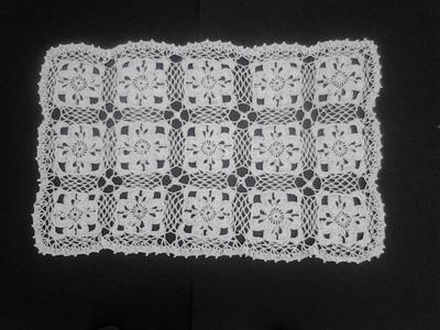 Carpeta rectangular crochet