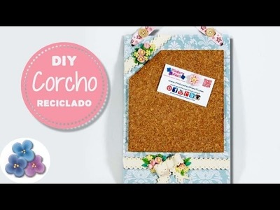Como Hacer un corcho DIY con Carton Reciclado FACIL Y BELLO video Tutorial DIY español Pintura Facil