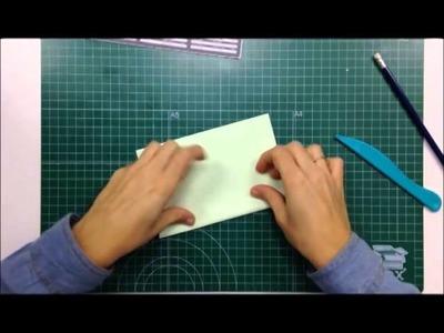 Cómo utilizar la Envelope Punch Board - TUTORIAL Scrapbook