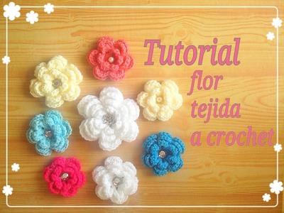 Crochet : Flor Tejida  paso a paso.