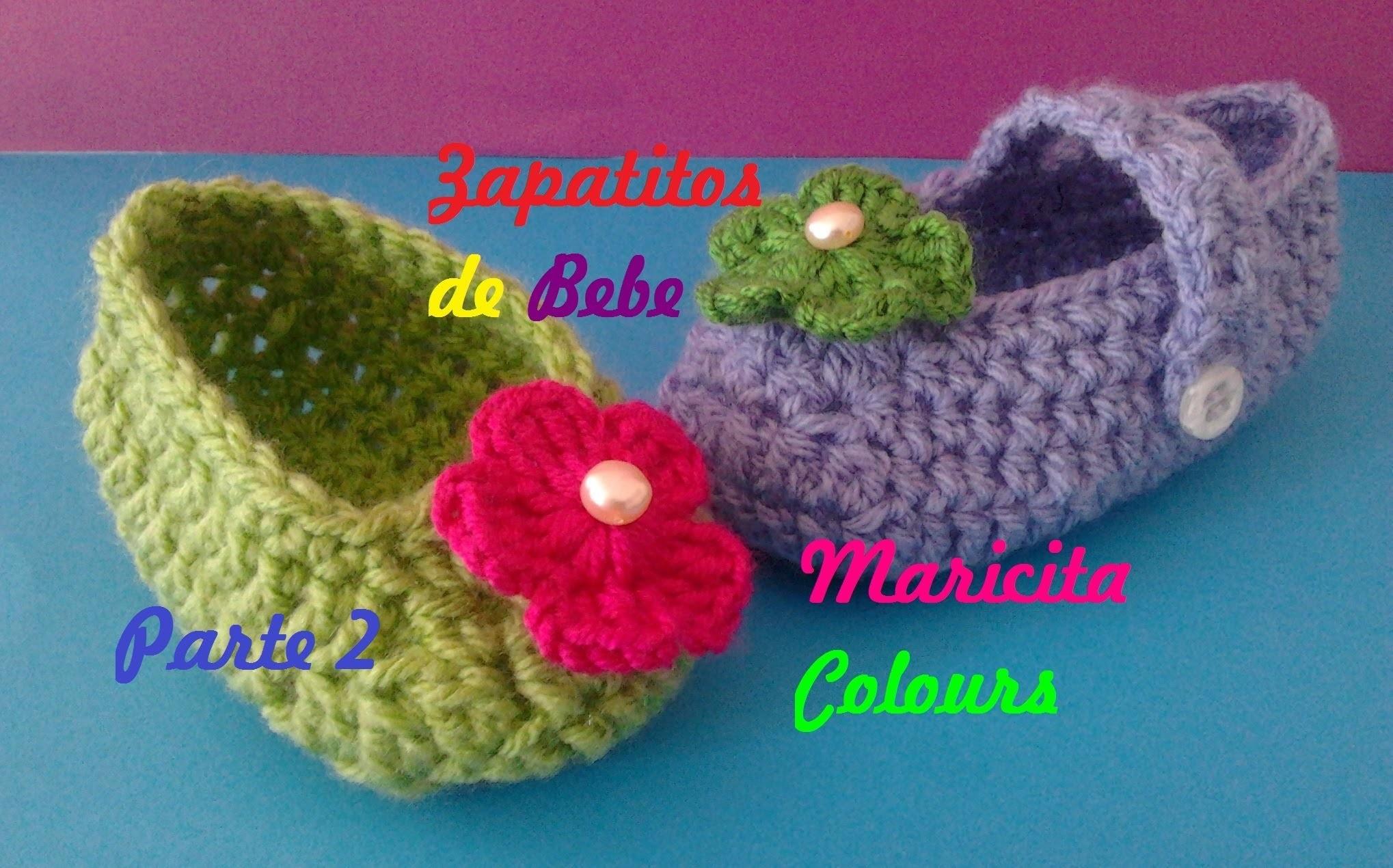 """Crochet Tutorial Zapatitos Escarpines """"Abril"""" (Parte 2) Subtitles English & Deutsch"""