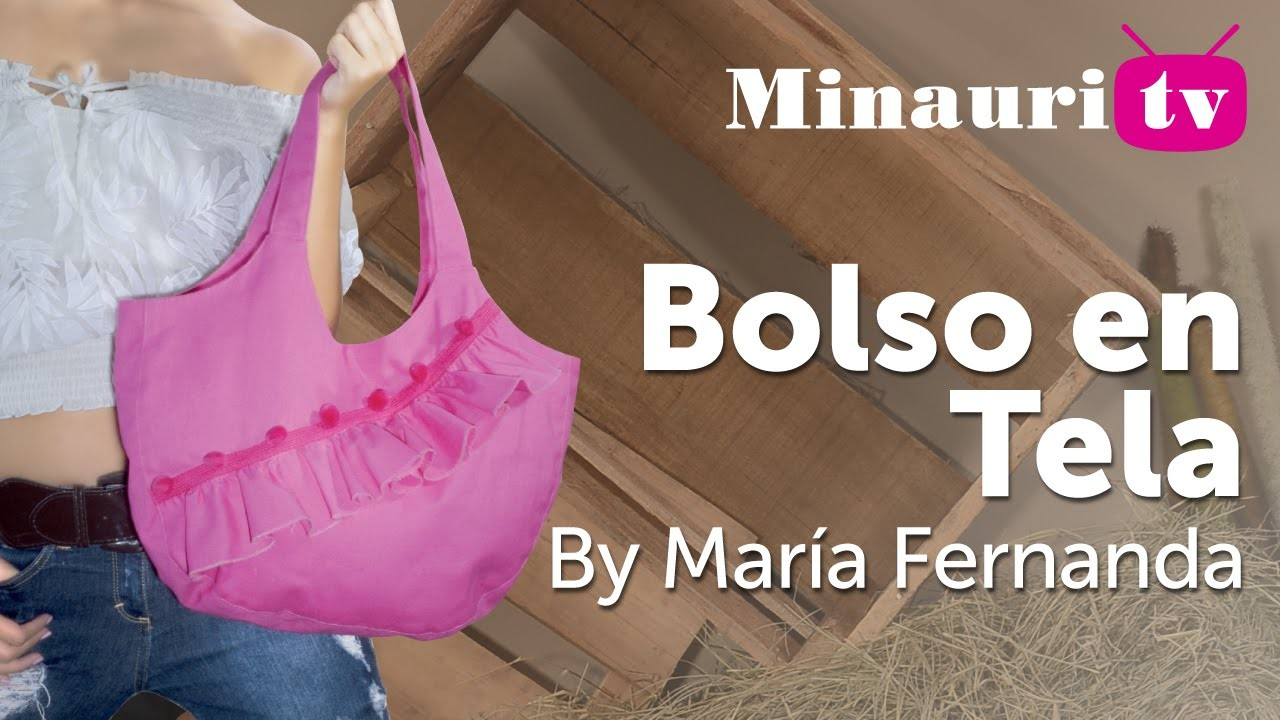 DIY - Bolso en Tela #9 by Minauri ( How to make fabric handbag ) ( sew. purse. wallet. tote )