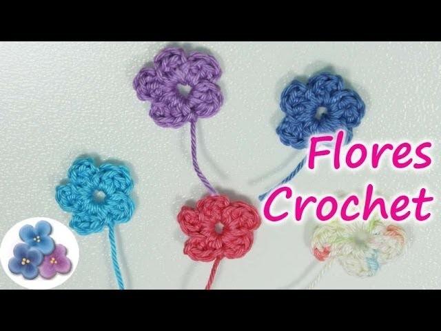 DIY Como Hacer Flores de Crochet *How to Crochet a Flower*  Flores Amigurumi Ganchillo Pintura Facil