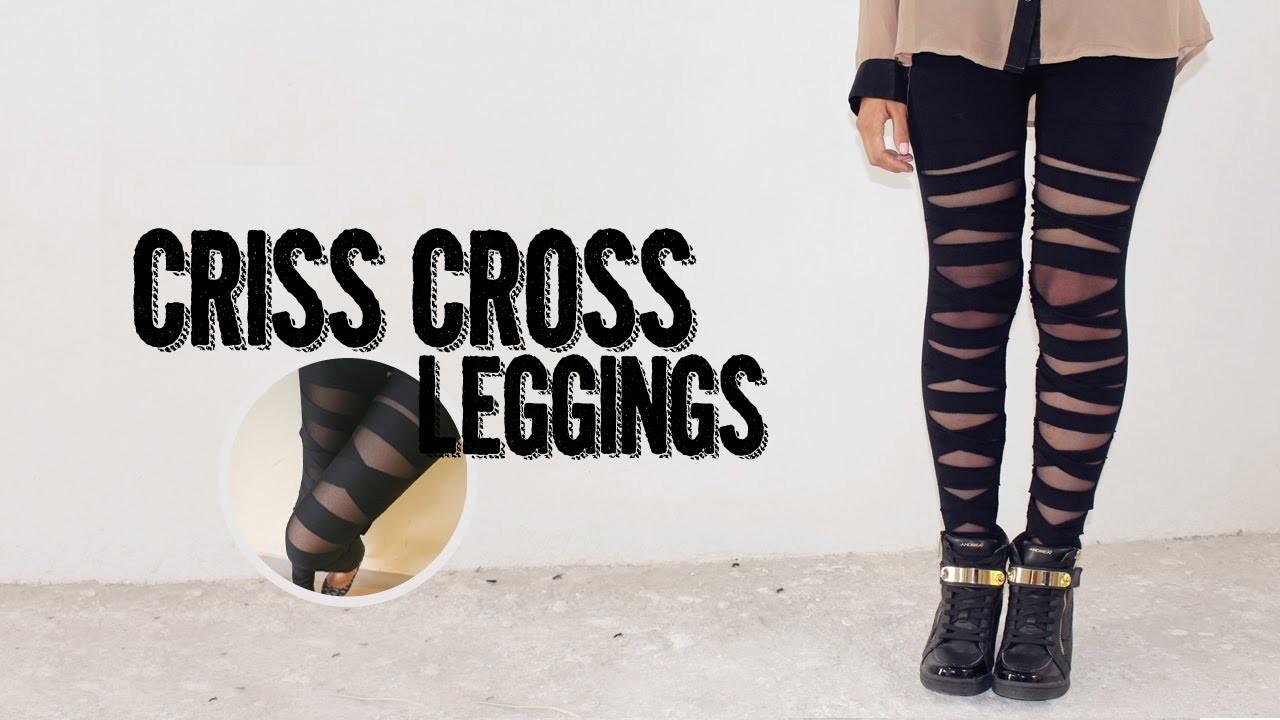 DIY: Criss cross leggings