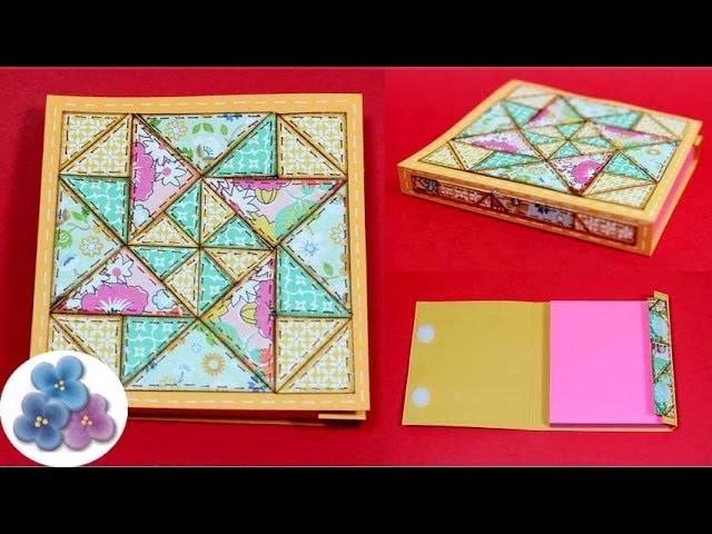 DIY Manualidades para Decorar con papel Cuadernos *Paper Quilting* Scrapbook Patchwork Pintura Facil
