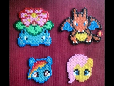 DIY My little Pony: Rainbow Dash hama beads mini