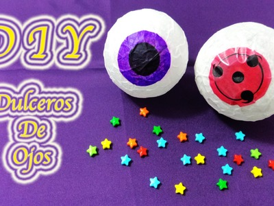 DULCEROS DE OJOS | HALLOWEEN CRAFTS | SHARINGAN | MANUALIDADES | DIY | - YuureYCrafts